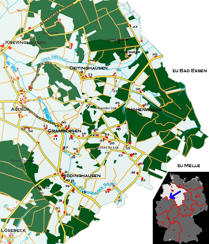 Map of Grambergen